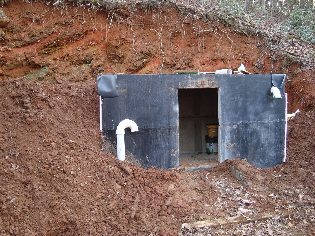 how to build your own concrete root cellar for food storage