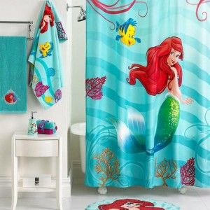 Pretty And Cute Little Girl S Bathroom Decor With Little Mermaid Bathroom Set