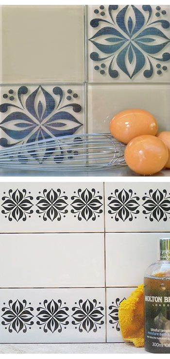 Tile Tattoos For An Instant Kitchen Or Bathroom Update