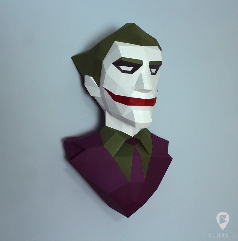 PDF Papercraft Template* Joker *Plantilla Papercraft PDF