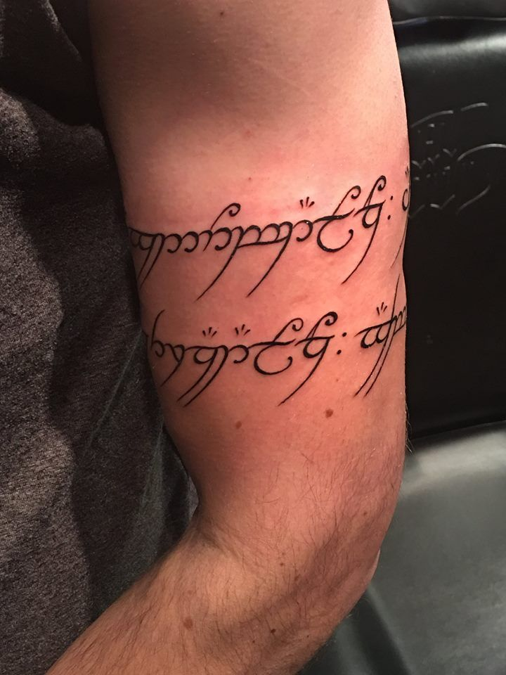 One Ring To Rule Them All Quote Page Number One Ring To Rule Them All By Wakako Club Tattoo Las Vegas Geek Tattoo Elvish Tattoo Lord Of The Rings Tattoo