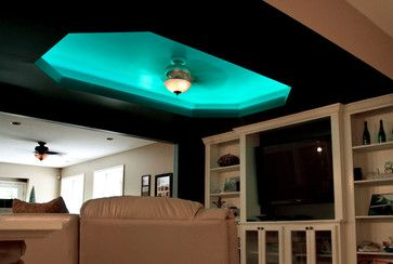 Colorful Led Accent Lighting In A Ceiling Cove Strip Lighting Small House Design House Design