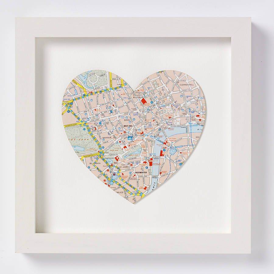 crafts with maps map frames three personalised map location
