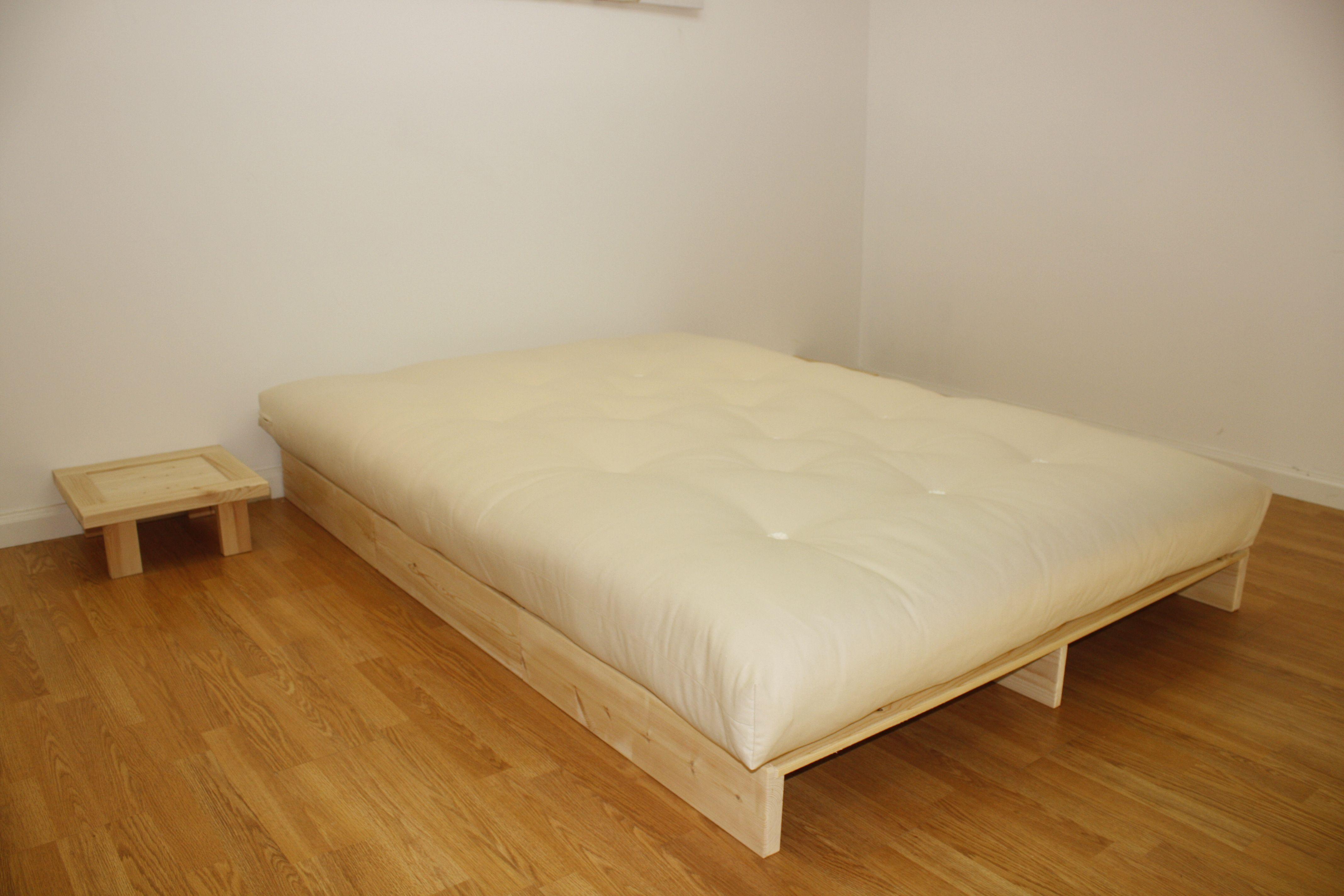 High bed platform - Shiki Low Futon Bed 15cm High Simple Slatted Platform Bed Base Ideal For A Futon