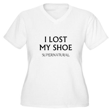 I Lost My Shoe T-Shirt on CafePress.com