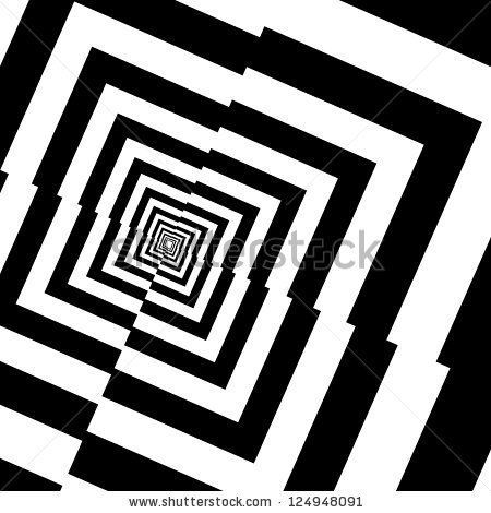 Optical Illusions Square Pin by Debbie Z...