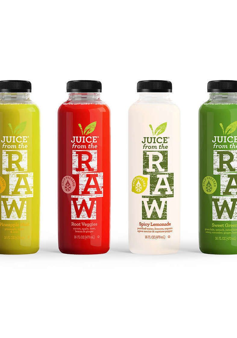 Organic coldpressed juice cleanses when fruits and