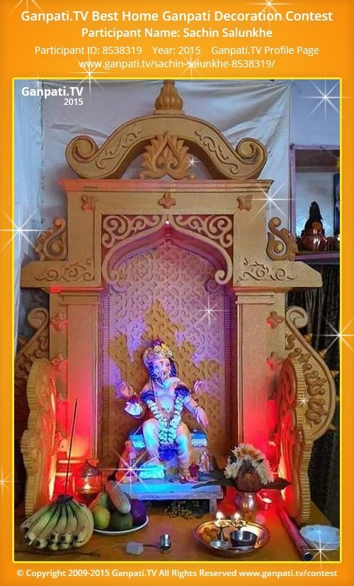 Sachin Salunkhe Home Ganpati Picture 2015. View More Pictures And Videos Of Ganpati  Decoration At