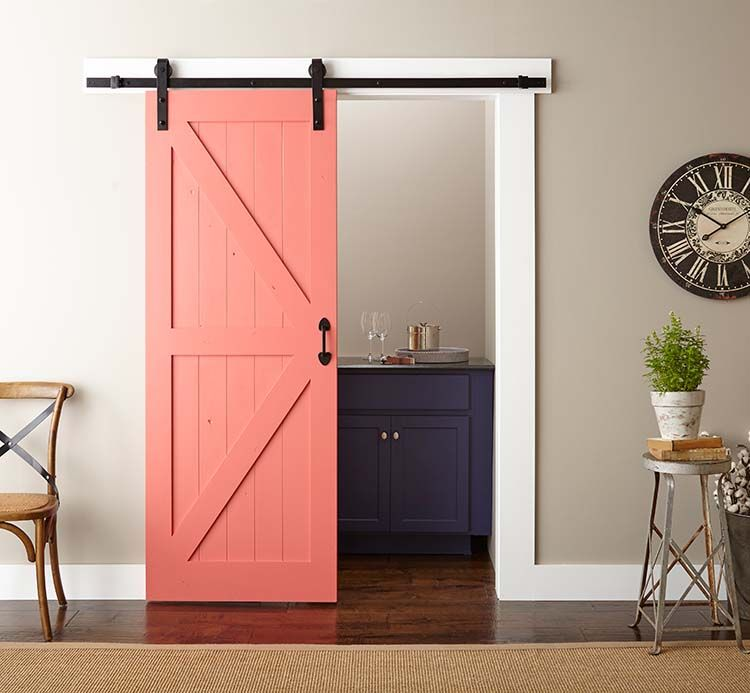 Easy Barn Door Paint And Install The Home Depot Blog Diy Barn Door Interior Barn Doors Diy Door