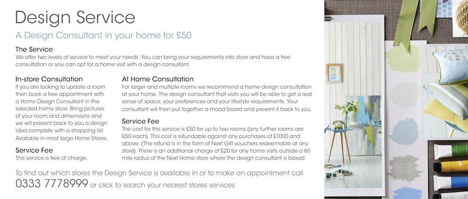 The Next Home Design Service | Next | Home Interiors | Pinterest