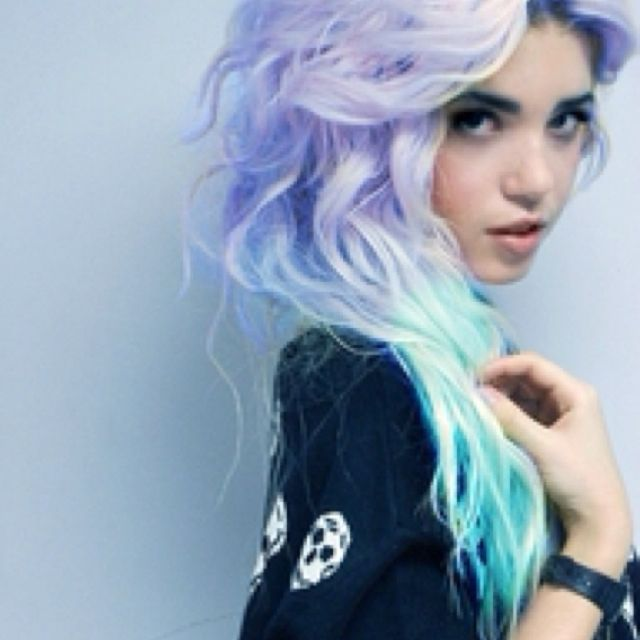 Purple and turquoise. #pastelhair