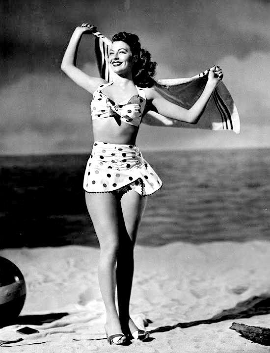 1a640928c1 Ava Gardner. <3 A most fantastic swimsuit~!!!!!! s.   Black and ...