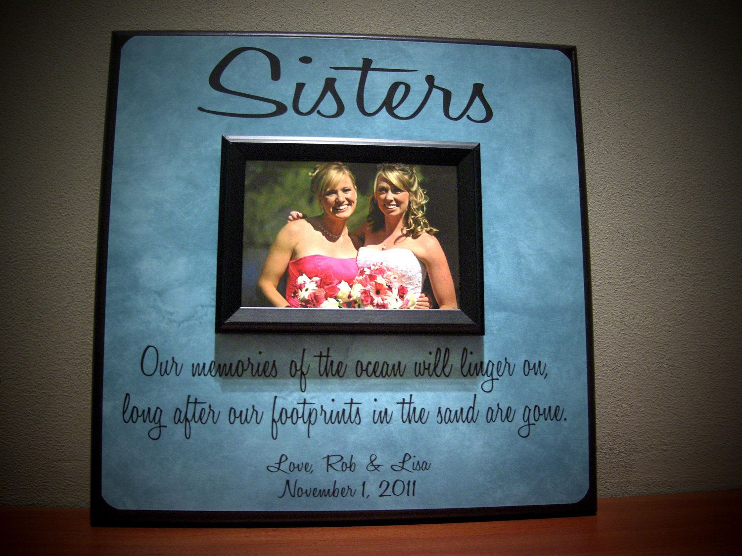 Sisters Photo Frame, Wedding Thank You Gift, Maid of Honor ...