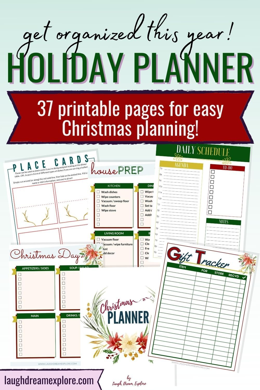 Free 2020 Easy Printable Christmas Organizer Get Your Christmas Planner Printables! in 2020 | Christmas planner