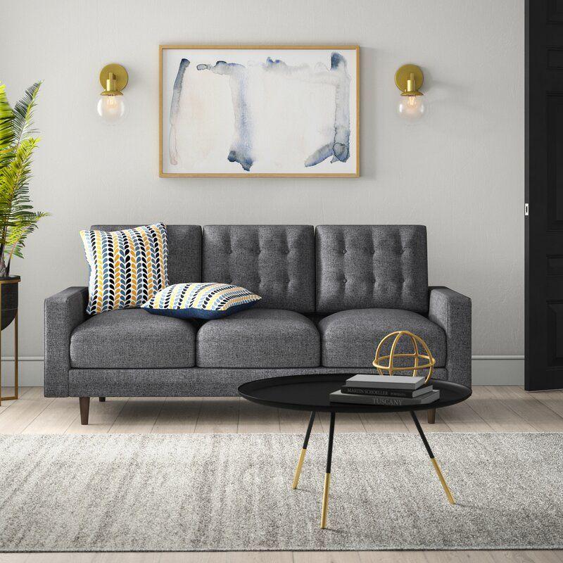 Maliana Velvet 71 5 Square Arm Sofa Sofas For Small Spaces