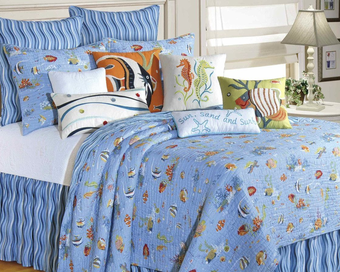 Reef Paradise Fish Quilt | Fish quilt, Paradise and Products : fish quilt bedding - Adamdwight.com