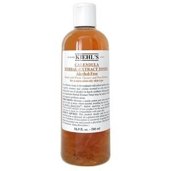 Calendula Herbal Extract Alcohol-Free Toner ( Normal to Oil Skin ) 500ml/16.9oz by Kiehl's. $91.19. This beauty product is 100% original.. Formulated with whole flowers & pure extracts Gently removes residue from cleanser or makeup Soothes skin without drying out moisture Maintain natural balance& beauty of skin Leaves skin clean fresh & pure