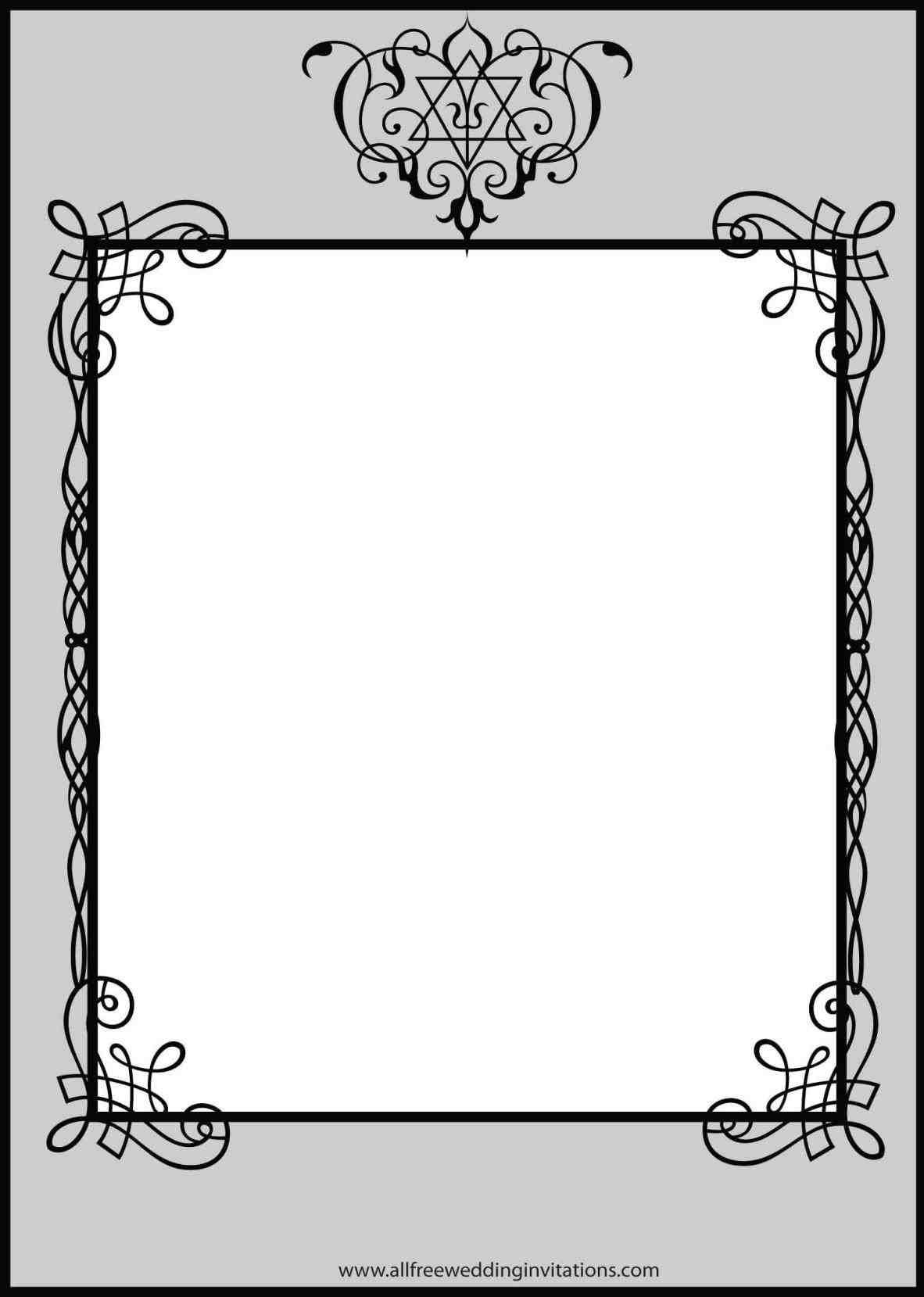 TOP +10 New post black and white wedding invitations templates blank ...
