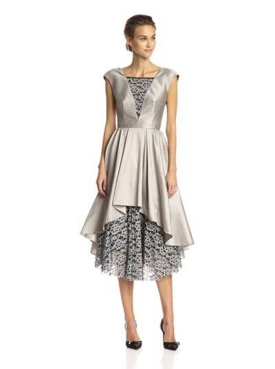 0f78ac67b80 A.B.S. by Allen Schwartz Lace Fit   Flare Dress Oyster