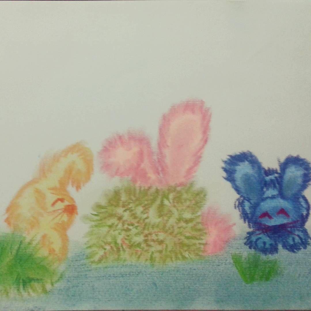 """""""Páscoa chegando! 3 #drawing #draw #desenho #art #colors #cores #pastelseco #pastelcolors #pastel…"""""""