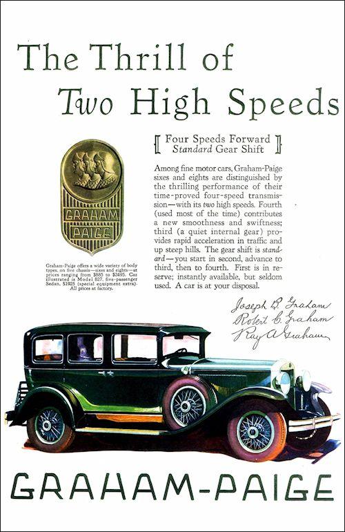 Graham-Paige 1929 Model 827 5-Passenger Sedan | Classic ...