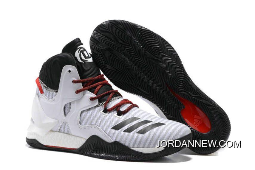Adidas Adizero Rose Dominate Mens Basketball Shoes White Blue TopDeals