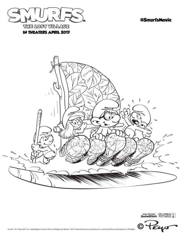 Top 11 Smurfs The Lost Village 2017 Coloring Pages Free Rhpinterest: Smurf House Coloring Pages At Baymontmadison.com