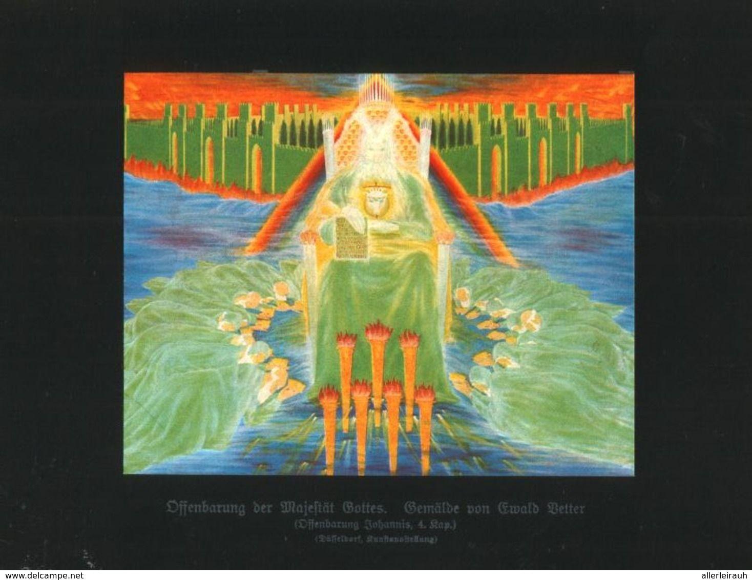 Offenbarung Der Majestat Gottes Nach Einem Gemalde Von Ewald Vetter Druck Entnommen Aus Zeitschrift 1922 Zu Verkaufen Auf Delcampe Einfache Gemalde Gemalde Zeitschriften