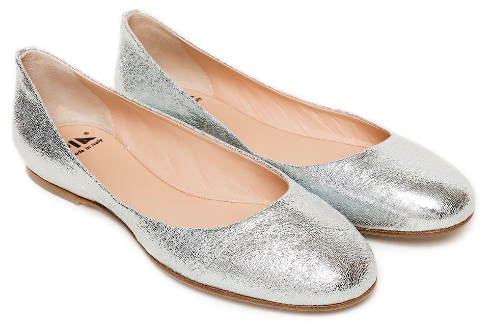 Srebrne Baleriny Apia Kolekcja Damskich Butow Wiosna Lato 2016 Wyjatkowa Kolekcja Butow Fabi Dla Marki Apia Shoes Flats Fashion