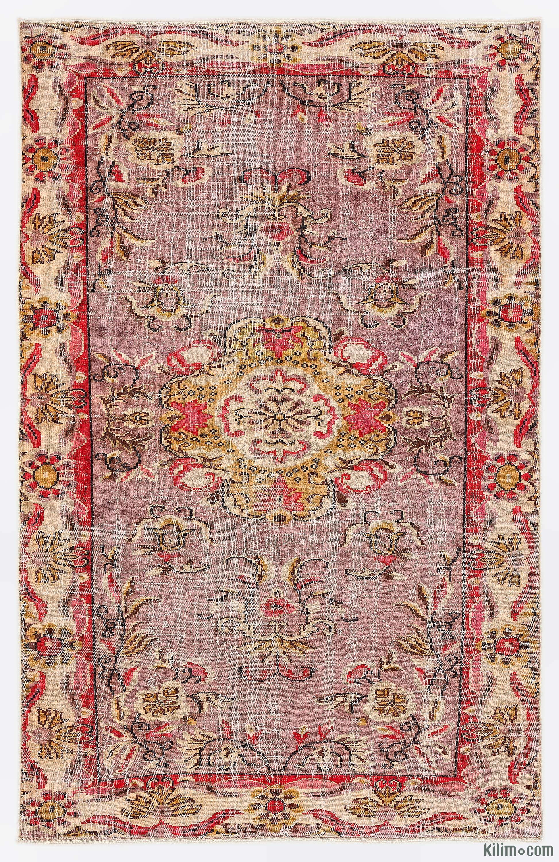Purple Turkish Vintage Area Rug 5 10 X 9 1 70 In X 109 In K0009971 Vintage Rugs Rugs On Carpet Vintage Area Rugs