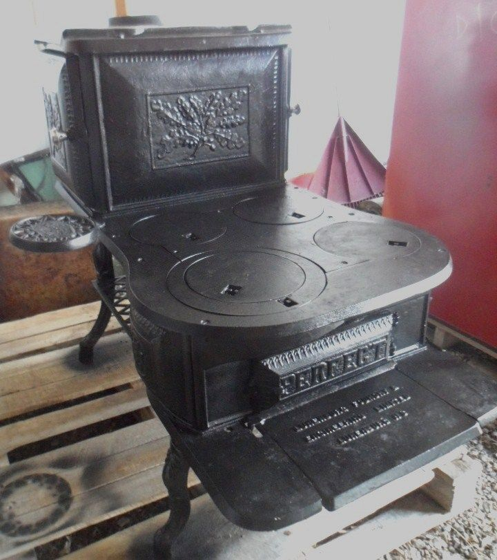 RARE Antique WOOD STOVE By PERFECT Lunenburg Foundry CAST IRON 6 - Ebay Wood Stoves WB Designs