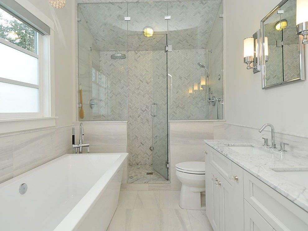 Show Me Bathroom Designs Option For A Freestanding Tub With Glassedin Shower  Jt Bath