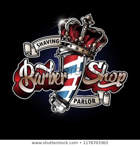 Barber Pole Logo Design Barbearias Retro Logotipo Do Barbeiro Barbeiro