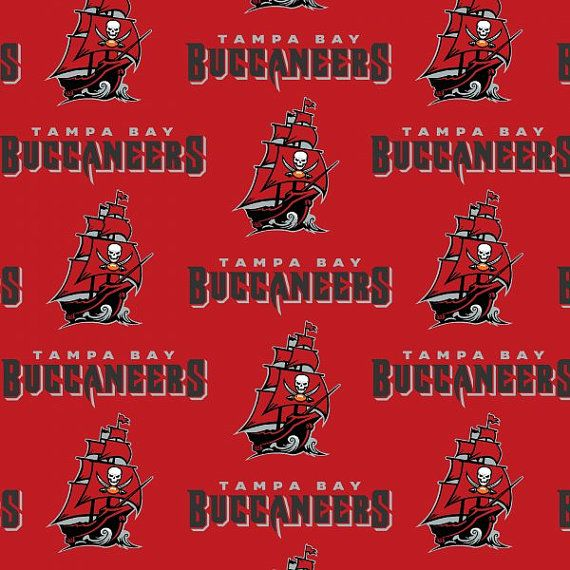 Tampa Bay Buccaneers Nfl Logo Cotton Fabric By Fabric Traditions Sold By 1 2 Yard Incr Tampa Bay Buccaneers Tampa Bay Buccaneers Football Buccaneers Football
