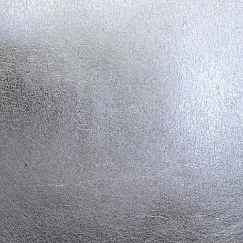 Scalamandre Silver Leaf Silver Metal Wallpaper - Sample - Scalamandre Silver Leaf Silver Metal Wallpaper / SILVER LEAF / SILVER METAL