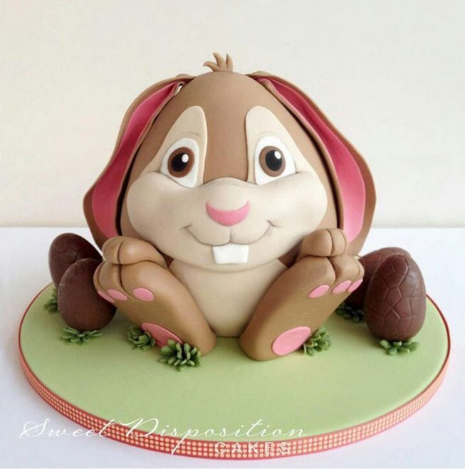 Cute Easter Bunny Cake by Sweet Disposition Cakesno recipe