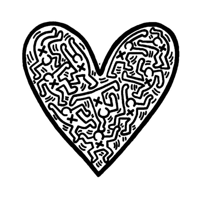 Keith Haring To Color For Kids Keith Haring Coloring Pages For