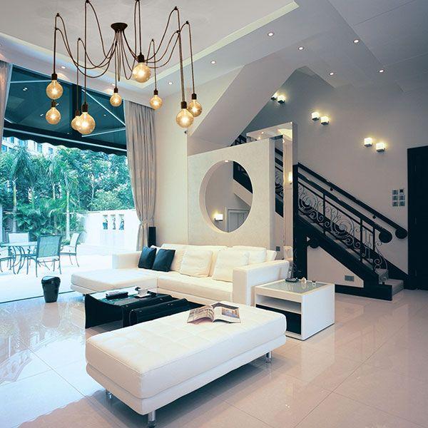 e27 abat jour de lustre lampe suspension plafonnier plafond d co salon chambre salon style. Black Bedroom Furniture Sets. Home Design Ideas