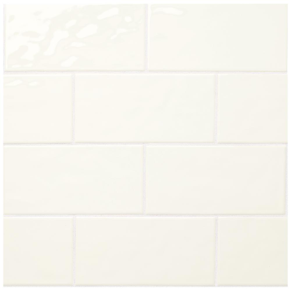 Marazzi Luxecraft White 4 In X 8 In Glazed Ceramic Subway Wall Tile 10 5 Sq Ft Case Lc1548modhd1p2 The Home Depot In 2020 Ceramic Wall Tiles Wall Tiles Modular Walls