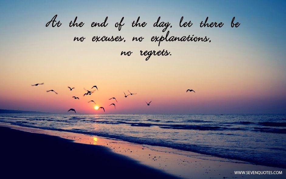 At The End Of The Day Quotes Images