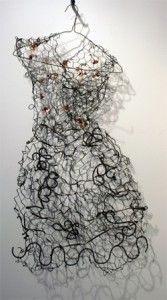 Awesome Art! Chicken Wire Life Size Dress by Marcia Sednek