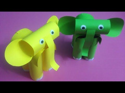 How to Make Elephant with Color Paper | DIY Paper Elephants Making - YouTube