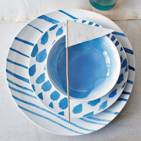 David Stark Brushstroke Dinnerware- like this ideal style and love this style in red!!