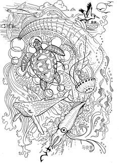 lost ocean colouring book pdf - Google Search | a | Pinterest ...