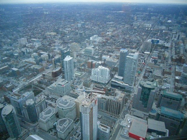 View From Inside Cn Tower Toronto Ontario Canada Let S Travel