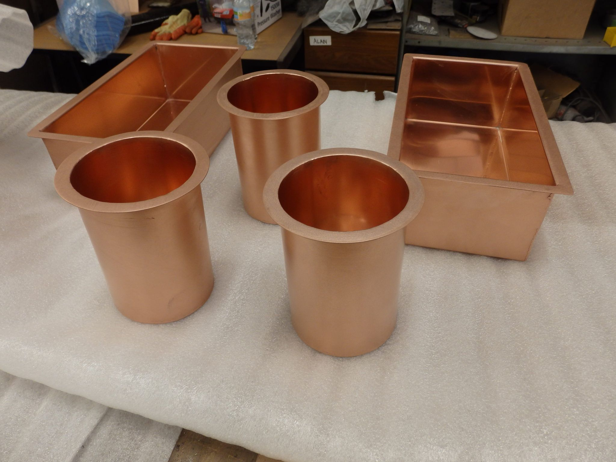 125 Copper Condiment Units Copper Interior Copper Top Table Copper Table