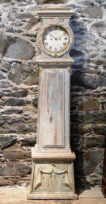 A contribution to a savings account for a Mora clock: Painted Antique Danish Bornholm Clock, Circa 1830
