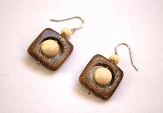 Wooden Earrings Salute. Handmade wooden by WoodCraftStudio on Etsy, $6.50