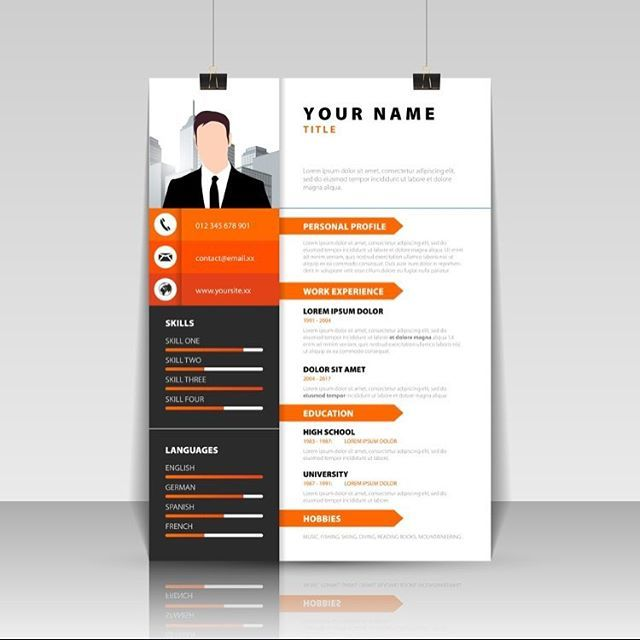 Resume Template Vector Illustrator Resume Creative Design