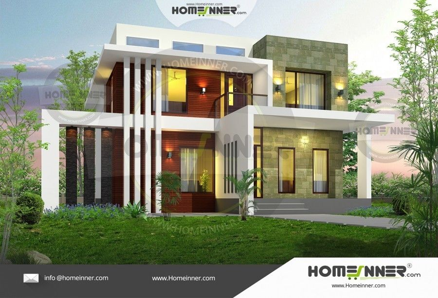5 Bhk Beautiful Two Story Home Exterior Small House Design Storey Homes Two Storey House